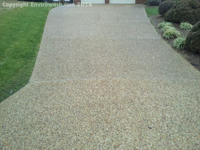 Driveway cleaning concrete cleaning services newport for Cement driveway cleaner