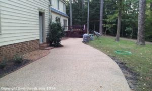 HAMPTON AGGREGATE AND STAMPED CONCRETE SEALING AFTER