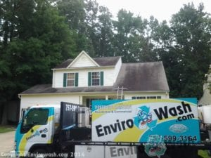 Roof Cleaning & Roof Stain Removal Before