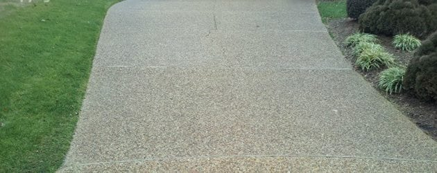 Aggregate & Stamped Concrete Cleaning